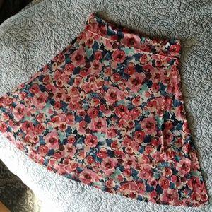 Lularoe Floral Sm Skirt
